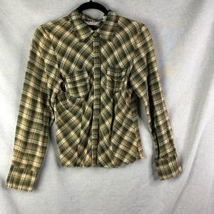 At Last New York Green and Yellow Girls Flannel